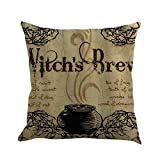 Happy Halloween Pillow Case Sofa Waist Throw Cushion Cover-2018Newest Home Decor (F, One Size)