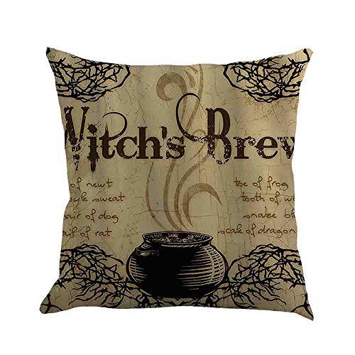 WFeieig_Halloween Top Finel Decorative Throw Pillow Covers with Soft Particles Velvet Solid Cushion Covers for Couch Bedroom Car, Black