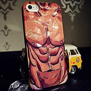 JOE New Arrival Glitter Special Grains Strong Man Pattern TPU Soft Case for iPhone 5/5S