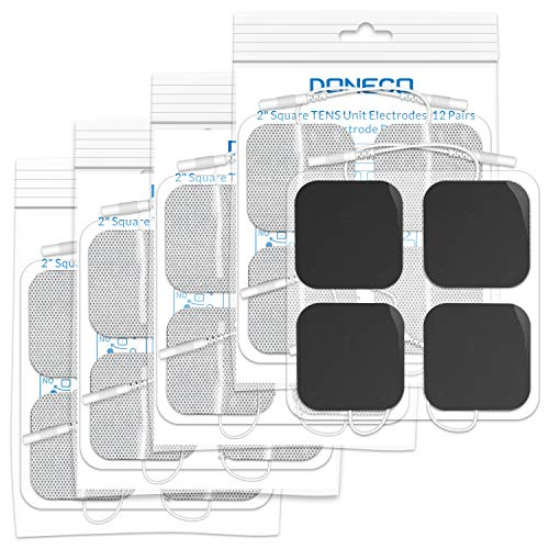 - DONECO 20 Pcs TENS Unit Electrodes Pads 2x2 20-Pack Replacement Pads Electrode Patches for Electrotherapy