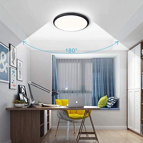 Plafoniera LED, Bedee Plafoniera bagno IP44, 24 W lampada da soffitto, 2040Lm Ø30cm luce bianca naturale 4000K, plafoniera led bagno plafoniera per soggiorno Sala da pranzo Cucina Balcone Corridoio