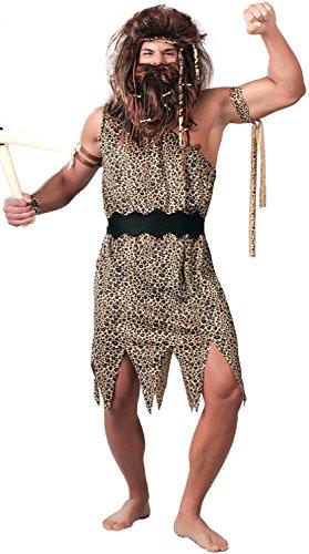 Mens Neanderthal Caveman Prehistoric Tarzan Jungle Velvet Fancy Dress Costume Medium Large (Men: Medium)]()