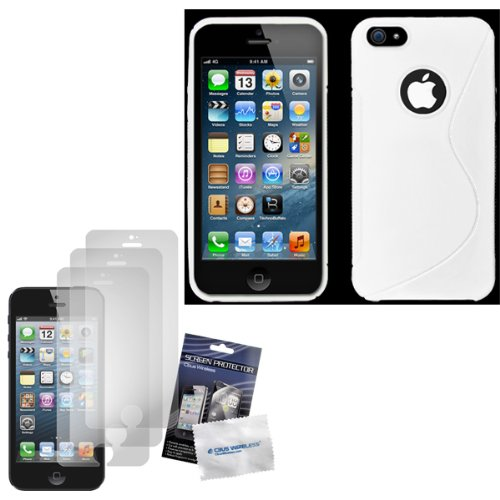 cbus-wireless-white-s-line-flex-gel-case-skin-cover-three-lcd-screen-protectors-guards-films-for-app