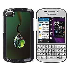 Be Good Phone Accessory // Dura Cáscara cubierta Protectora Caso Carcasa Funda de Protección para BlackBerry Q10 // Nature Life Water Drop