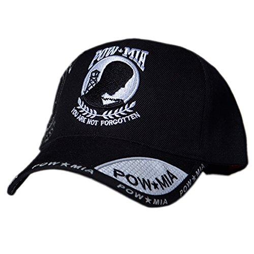 (US HONOR TM Embroidered Shadow Pow/MIA White Logo Baseball Caps Hats)