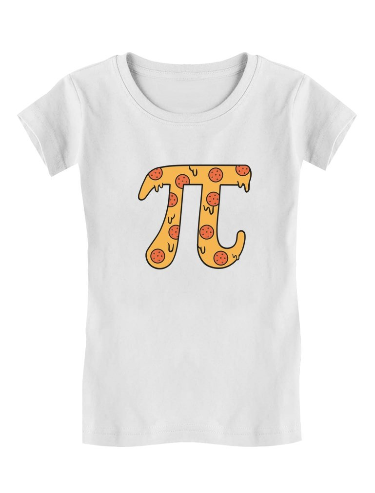 Tstars – Pizza Pi Funny Pi Day Gift Cute Toddler/Kids Girls' Fitted T-Shirt