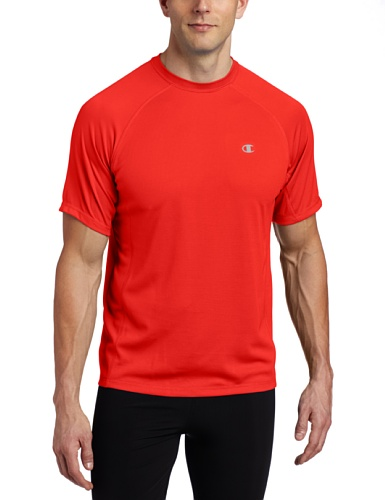 Champion Men's Double Dry Training Tee, Scarlet, Large