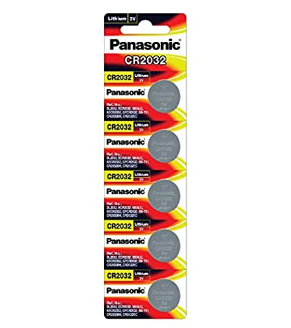 panasonic cr 2032 3v  Panasonic Cr2032 3v Lithium Battery 2pack X (5pcs) =10 Single Use ...