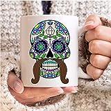 Male Sugar Skulls Coffee Mug Love Ceramic Cup Birthday Gift