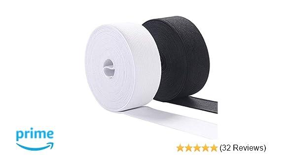 MYUREN 1-1//2 Inch by 10 Yard White Heavy Stretch High Elasticity Elastic Spool Knit Elastic Bands for Sewing