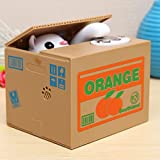 Vivona Toys and Gifts Automated Itazura Cat Steal Coin Piggy Bank Saving Money Box Kids Toy