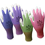 6 Pack Showa Atlas NT370 Atlas Nitrile Garden Gloves - Small (Assorted Colors)