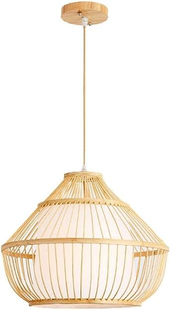 Lámpara nórdica de iluminación LED, lámpara moderna de bambú 1/2 ...