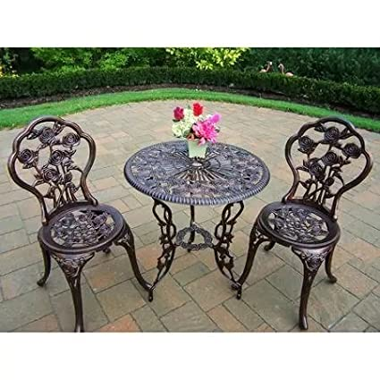 New - Rose 3-Piece Bistro Patio Set - Quality. Only here. - Amazon.com : New - Rose 3-Piece Bistro Patio Set - Quality. Only