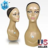18'' Female Life size Mannequin Head for Wigs, Hats, Sunglasses Jewelry Display C2