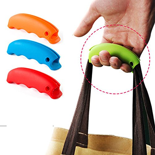 3Pcs/set Silicone Bag Holder Handle, Candy Color, Portable, Slip Function, Carry Multiple Bags at Once, Pressure Relief Structure, Easy to Carry, Unique Hole Design for Key Ring, Random color (Strip Camshafts)