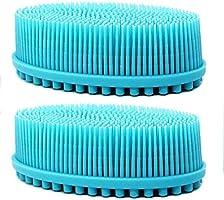 Duschkroppsborste silikonbadborste kraftfull rengöringsskrubbare med mycket mjuka borst och långt handtag