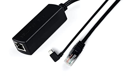 IEEE 802.3af Compliant Dropcam or Raspberry Pi IP Camera and More IPC for Tablets ANVISION Active 48V to 5V 2.4A PoE Splitter Adapter with Micro USB Plug