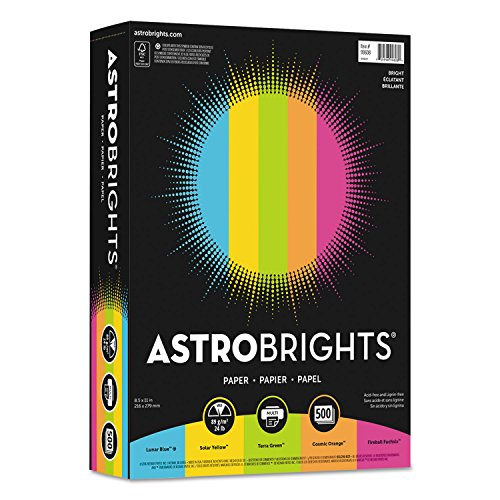 """Price comparison product image Color Paper -""""bright"""" Assortment,  8 1 / 2 X 11,  5 Colors,  24lb,  500 Sheets"""