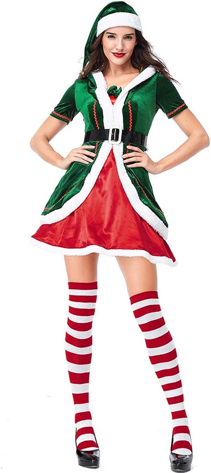 LPATTERN Disfraz de Duende para Navidad Traje de Halloween Cosplay ...