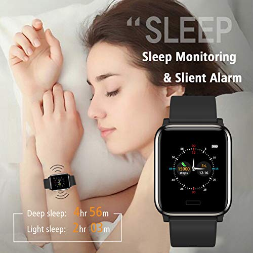 Activity Tracker with Heart Rate Sleep Monitor 1.3inch Color Screen Long Battery Life Include a Replacement Band Compatiable for Fitbit Versa Step Counter for Women Men L8star Fitness Tracker