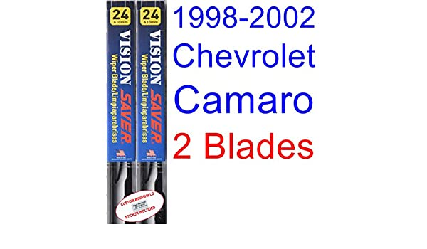 Amazon.com: 1998-2002 Chevrolet Camaro Replacement Wiper Blade Set/Kit (Set of 2 Blades) (Saver Automotive Products-Vision Saver) (1999,2000,2001): ...