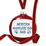 Christmas Decoration Dog & Cat Dad Mexican Hairless Dog Ornament
