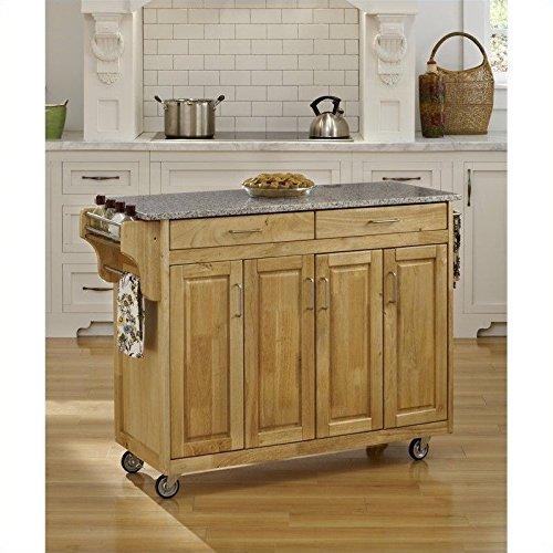 Home Styles Create-a-Cart Natural Granite Top Cart