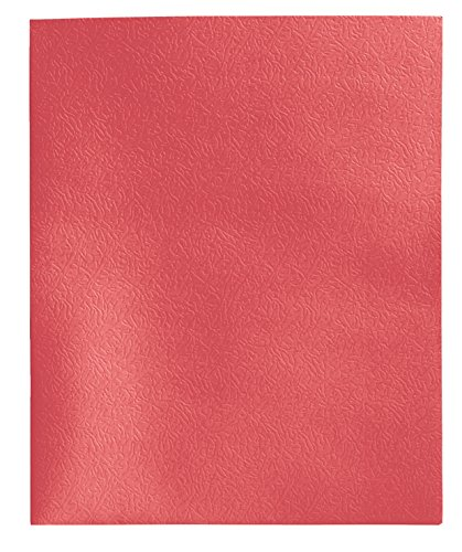 School Smart 2 Pocket Folder - 9 x 12 inch - Pack of 25 - Red