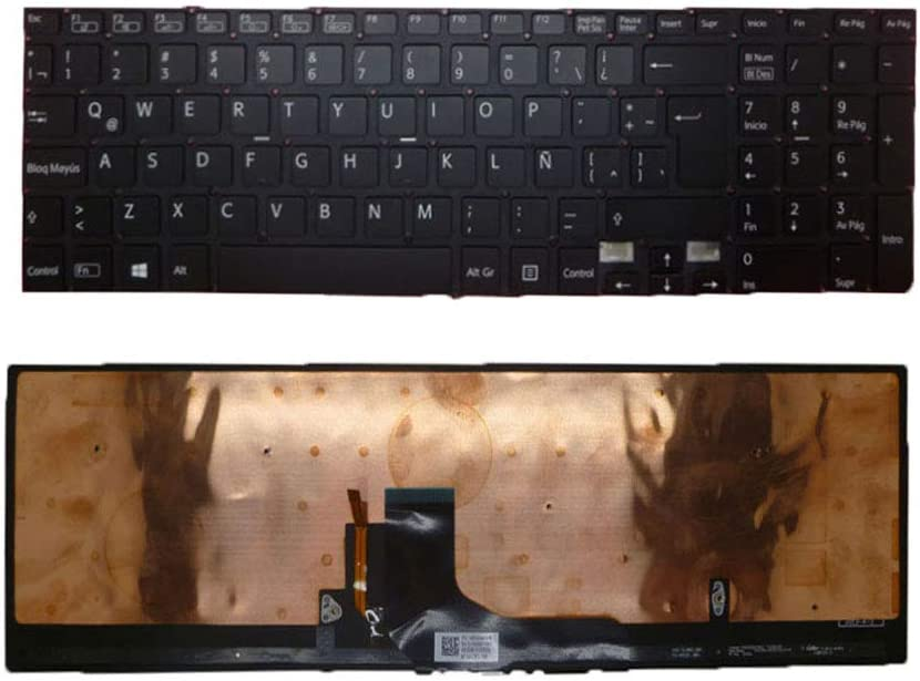 Laptop Keyboard for Sony VAIO SVF15A Series SVF15A17CLB Latin America LA Black with Backlit New