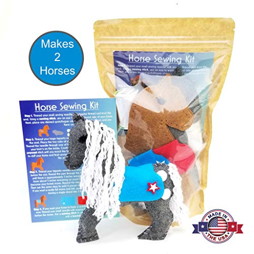 Wildflower Toys Horse Sewing Kit Kids - Felt Craft Kit Beginners ages 7+ - Makes 2 Felt Stuffed Horses by Wildflower Toys (Image #6)