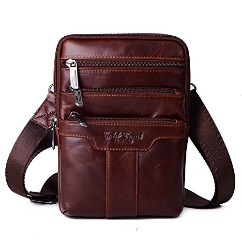 Male Bag (Sunmig Men's Vintage Genuine Leather Shoulder Bag Messenger Bags)