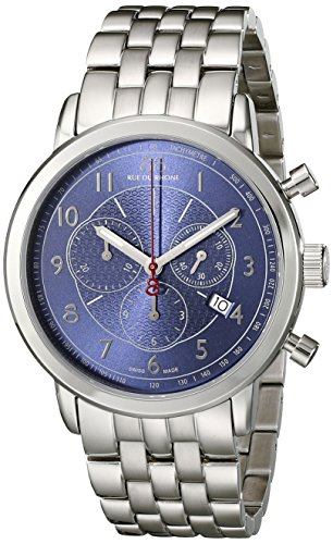 88-Rue-du-Rhone-Mens-87WA120051-Double-8-Origin-Analog-Display-Swiss-Quartz-Silver-Watch