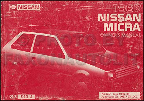 - 1987 Nissan Micra Owner's Manual Original