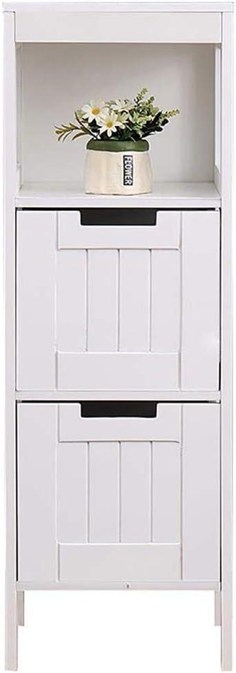 82 x 30,5 x 30,5cm Armadio Camera da Letto Salvaspazio Bianco DREAMADE Armadio Multiuso Armadio da Bagno Mobile con Cassetti