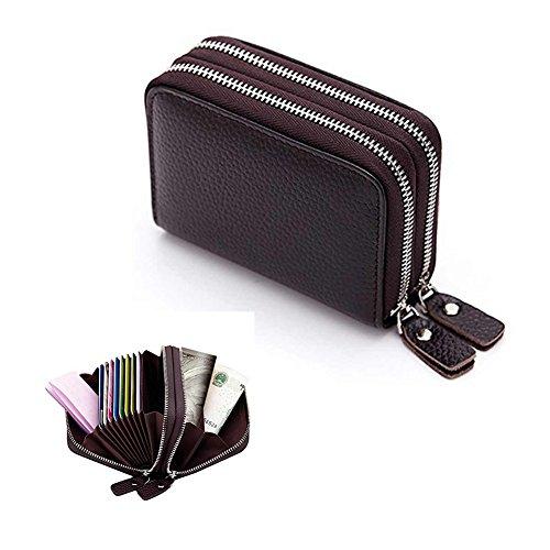 Holder Organizer Wallet Arround End Purse Credit Clutch Sale Coin Zippered Clip Wallet Change Card Handbag Card Money Year Clutch Clearance Case Valentoria® Holder Coffee OqzfdHanH