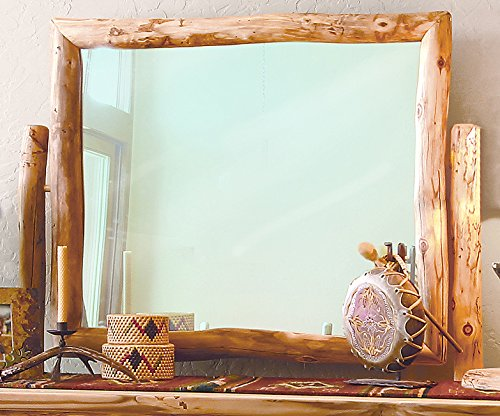 Mountain Woods Furniture Aspen Heirloom Collection Tilt Mirror for Chests, Poly Finish ()