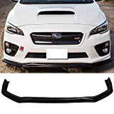 Front Bumper Lip Fits 2015-2017 Subaru WRX STI | CS Style Black PU Front Lip Finisher Under Chin Spoiler Add On by IKON MOTORSPORTS | 2016