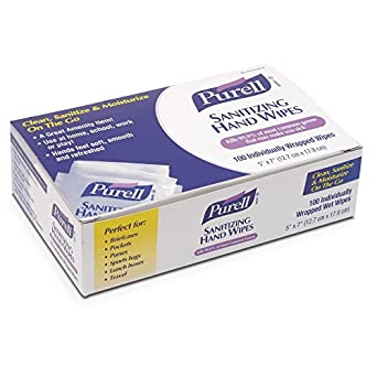 PURELL 902210CT Sanitizing Hand Wipes, 5 x 7 (Case of 1000)