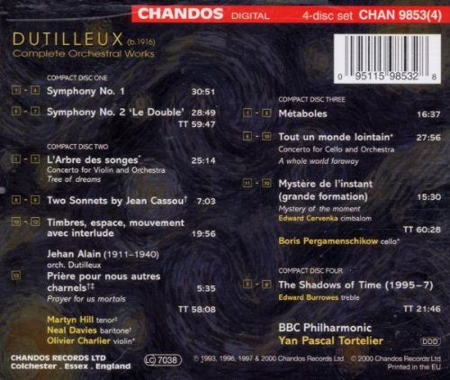Dutilleux: Complete Orchestral Works by Chandos