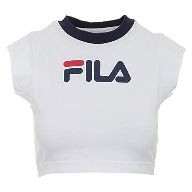 c2a7b872835f Amazon.com  Fila Women s Pia Crop T-Shirt