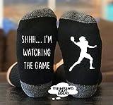 Shhhh. I'm Watching The Game- Socks - Funny Novelty Gag Gift Idea- Funny Socks- Birthday Gift- Christmas Gift- Unisex Socks