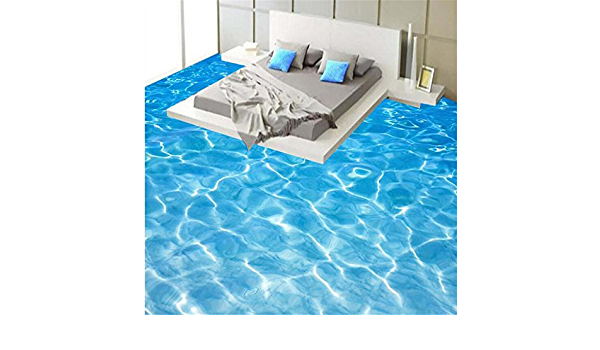 Lqwx/Agua Verde De Rizo Impermeable Pintura Mosaicos Autoadhesivos Papel Tapiz Pintura Suelos 3D Pegatinas Papel De Parede Tapety-120Cmx100Cm