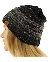 CC Confetti Ombre Warm Chunky Soft Stretch Knit Slouch Beanie Skull Cap Hat