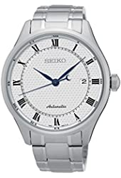 Seiko Automatic SRP767 White Dial Stainless Steel Band Men's Watch