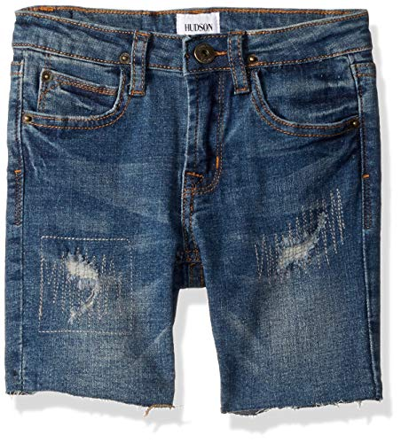 (HUDSON Boys' Toddler Denim Jean Shorts, Repaired Heavy Destroyed, 3T )