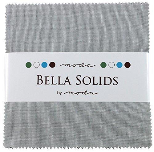Bella Solids Zen Grey Charm Pack 42 Squares 5