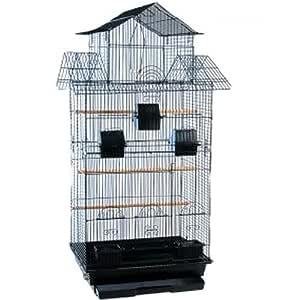 Alto jaula ideal para hacer y Parakeets grande con salientes ...