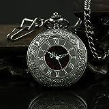 Alcateny(TM) Hombre Reloj de Bolsillo Cuarzo Aleación Banda Cosecha Negro Negro (Color: Al azar)