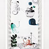 Mini Crib Sheets by Rookie Humans: 100% Cotton Sateen. Use as a Photo Background for Your Baby Pictures. Fits Mini Crib Size (38x24 inches) (Underwater Love)